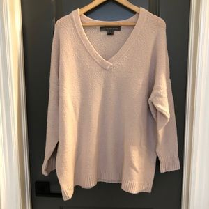 French Connection Blush Pink V-Neck Sweater